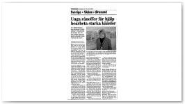 Unga rånoffer får hjälp bearbeta starka känslor Lördagen den 18 mars 2000