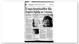Unga Brottsoffer får igen hjälp av vuxna ONSDAG 15/3/2006