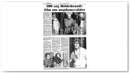 300 såg Hildebrands film om ungdomsvåldet / Nyköping - Folket Torsdag 23 april 1987